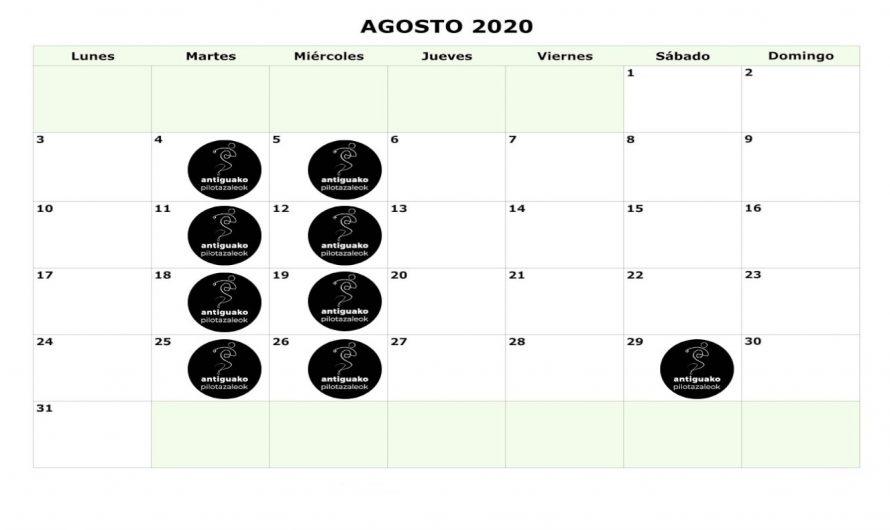Egutegia – Calendario 2020